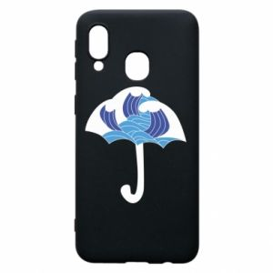 Phone case for Samsung A40 Umbrella with waves