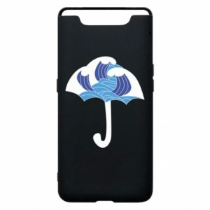 Phone case for Samsung A80 Umbrella with waves