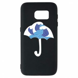 Phone case for Samsung S7 Umbrella with waves