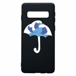 Phone case for Samsung S10 Umbrella with waves