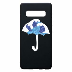 Phone case for Samsung S10+ Umbrella with waves