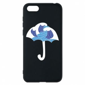 Phone case for Huawei Y5 2018 Umbrella with waves