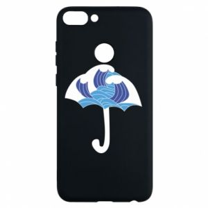 Phone case for Huawei P Smart Umbrella with waves