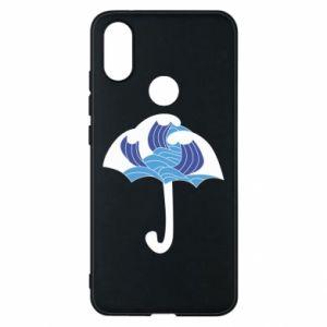Phone case for Xiaomi Mi A2 Umbrella with waves