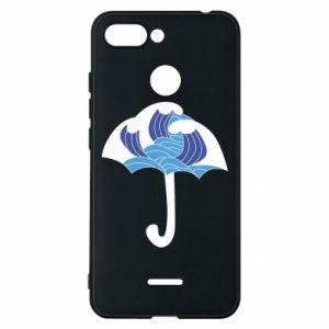 Phone case for Xiaomi Redmi 6 Umbrella with waves