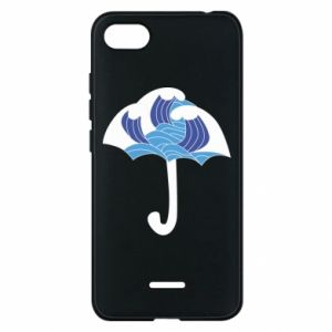 Phone case for Xiaomi Redmi 6A Umbrella with waves