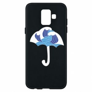 Phone case for Samsung A6 2018 Umbrella with waves