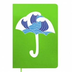 Notepad Umbrella with waves