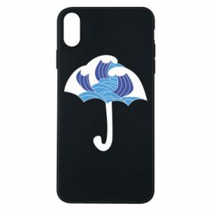 Phone case for iPhone Xs Max Umbrella with waves