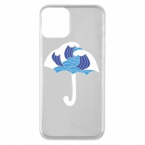 Phone case for iPhone 11 Umbrella with waves