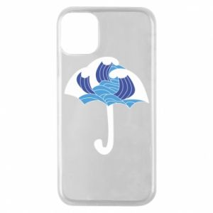 Phone case for iPhone 11 Pro Umbrella with waves