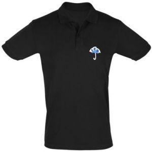 Men's Polo shirt Umbrella with waves