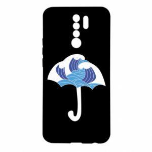 Etui na Xiaomi Redmi 9 Umbrella with waves