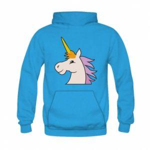 Bluza z kapturem dziecięca Unicorn pleased with itself