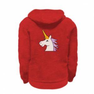 Bluza na zamek dziecięca Unicorn pleased with itself