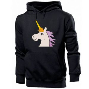 Męska bluza z kapturem Unicorn pleased with itself