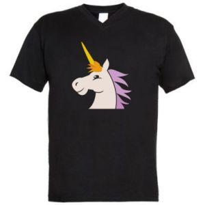 Męska koszulka V-neck Unicorn pleased with itself