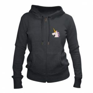 Women's zip up hoodies Unicorn pleased with itself