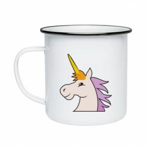 Kubek emaliowane Unicorn pleased with itself