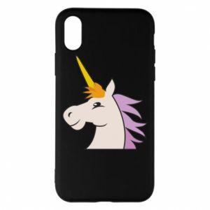 Etui na iPhone X/Xs Unicorn pleased with itself