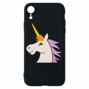Etui na iPhone XR Unicorn pleased with itself