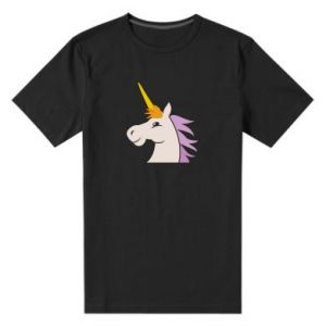Męska premium koszulka Unicorn pleased with itself