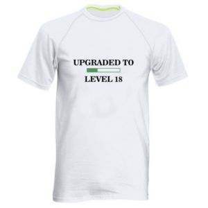 Men's sports t-shirt Upgraded to level 18