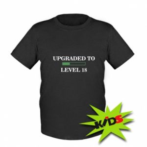 Dziecięcy T-shirt Upgraded to level 18