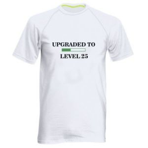 Męska koszulka sportowa Upgraded to level 25