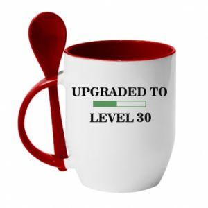 Kubek z ceramiczną łyżeczką Upgraded to level 30