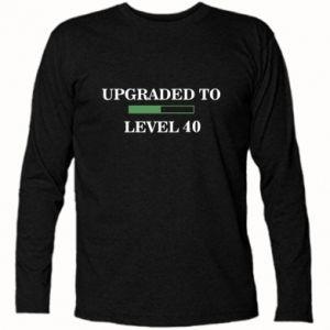 Koszulka z długim rękawem Upgraded to level 40