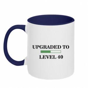 Kubek dwukolorowy Upgraded to level 40