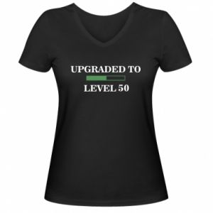 Women's V-neck t-shirt Upgraded to level 50