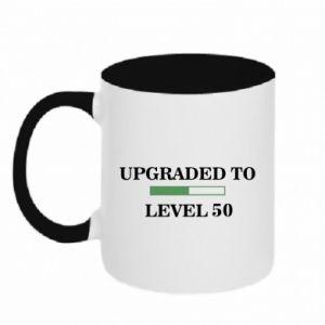 Kubek dwukolorowy Upgraded to level 50