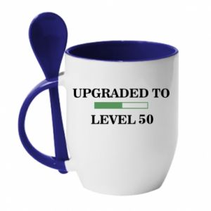 Mug with ceramic spoon Upgraded to level 50