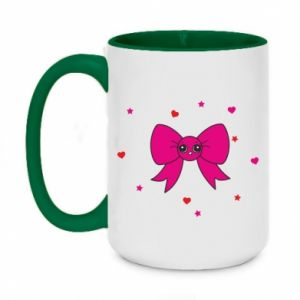 Two-toned mug 450ml Cute bow