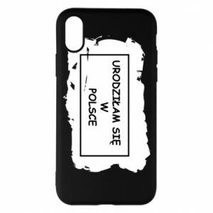 Phone case for iPhone X/Xs I was born in Poland