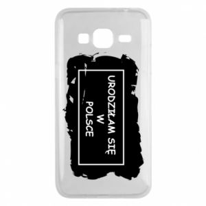 Phone case for Samsung J3 2016 I was born in Poland