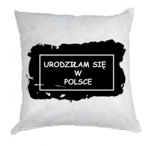 Pillow I was born in Poland