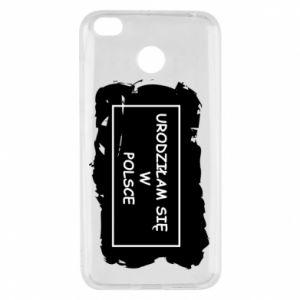 Xiaomi Redmi 4X Case I was born in Poland