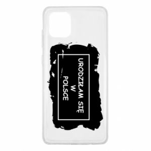 Samsung Note 10 Lite Case I was born in Poland