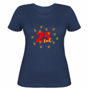 Damska koszulka Urodziny. 25 lat