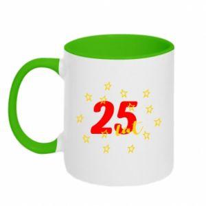 Kubek dwukolorowy Urodziny. 25 lat