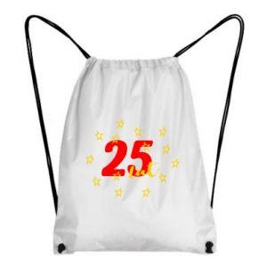 Plecak-worek Urodziny. 25 lat