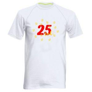 Męska koszulka sportowa Urodziny. 25 lat