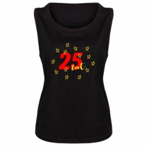 Damska koszulka bez rękawów Urodziny. 25 lat
