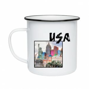 Enameled mug USA