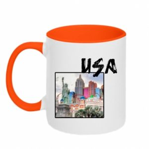 Two-toned mug USA