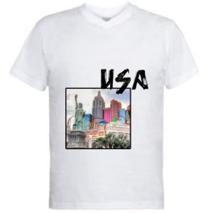 Men's V-neck t-shirt USA