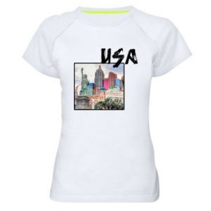 Women's sports t-shirt USA